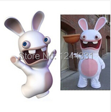 Hot Sale Mascot Pink Rayman Raving Rabbit Mascot Costume Adult Size Fancy Dress For Christmas Halloween Carnival Party