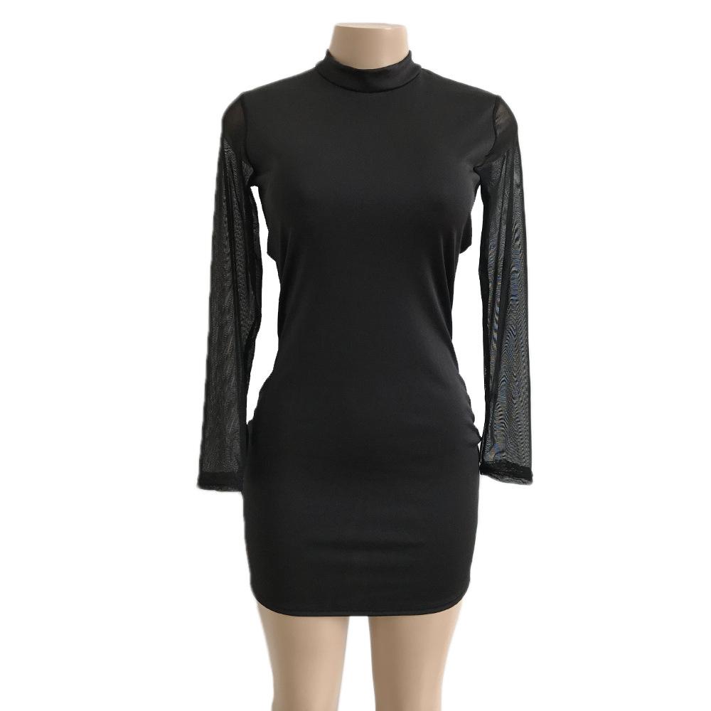 Swaggy HTB1rfR6ctfJ8KJjy0Feq6xKEXXaD Langärmliges Slim Kleid