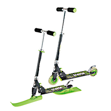 Multifunctional 2 in 1 Children Sled Scooter Skiing Board Snow Tubes with foot brake trineo nieve XQ21(China)
