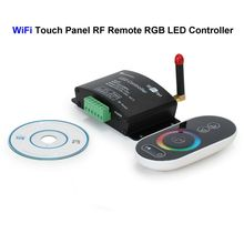 WiFi RGB LED Controller Touch Panel Screen RF Remote Control For SMD 3528 5050 RGB LED Rigid Strip(China)