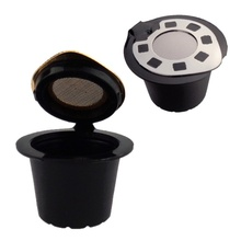 New Silver Refillable Reusable Coffee Capsule Filter Compatible Nespresso Soft Capsules Baskets