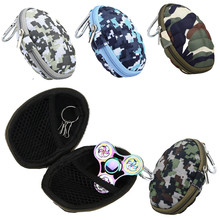 Hot sale Oval Box Case For Dustproof Hand Spinner EDC Fidget Spinner Focus Gyro Toy camouflage color box holder with Clasp
