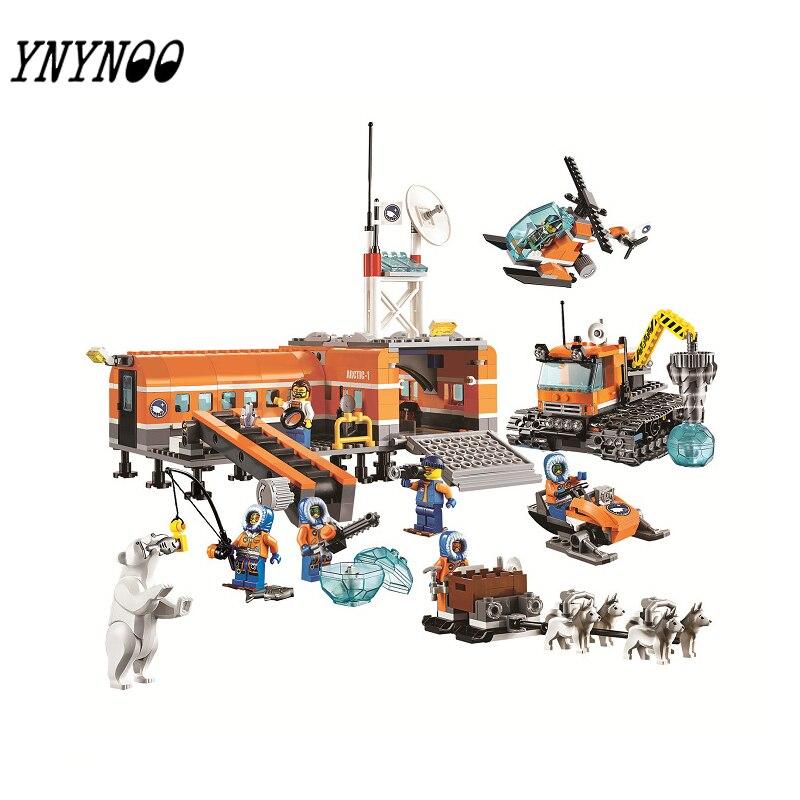 (YNYNOO)Original 10442 Compatible  City  Brick Arctic Base Camp 60036 Building Blocks Model Toys For Children<br>