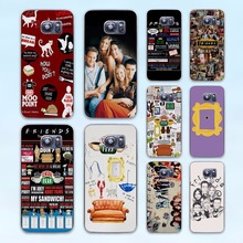 FRIENDS FUNNY TV SHOW LOGO Best Friends Forever design hard transparent Case Cover for Samsung Galaxy S8 S8Plus S6 S7 edge S4 S5(China)