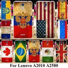 TAOYUNXI Soft Plastic Mobile Phone Cases For Lenovo A2010 A2580 A2860 a 2010 4.5 inch0 Covers UK Russia Flags Silicone Shell