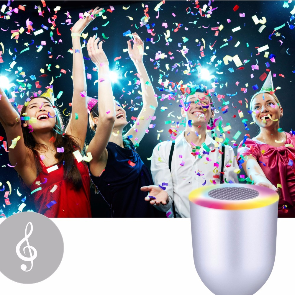 Portable RGB Colorful LED Mini Wireless Bluetooth Speaker LED Night Light Musical Audio Hand-free Loudspeakers For phone PC<br>