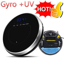 2017 Best Wet and Dry robotic vacuum cleaner (Gyro +UV) intelligent map scanning,400ML+50ML Water Tank,Self Charge,english voise