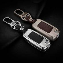 Genuine Leather Car Case Key For Volkswagen Keychain Vw Polo Bora Beetle Tiguan Passat B5 B6 Golf 4 Mk5 6 Jetta Eos Car Key Ring
