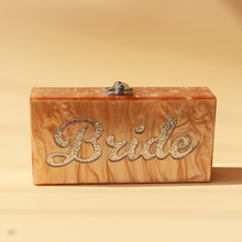 2017 Wholesale Pearl Blush Acrylic Box Clutch Bags Acrylic Evening Ladies Clutch Handbag Bride Letter Name Acrylic Box Clutches