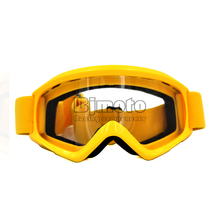 MG-015-YE Yellow  Adult Motorcycle Protective Gears Clear Lens  Flexible Cross Country  helmet Motocross Goggles Glasses MX