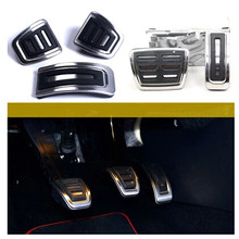 Stainless steel Car Clutch Gas Brake pedals Cover for Volkswagen VW Polo Bora Lavida Golf 3 4 Santana Jetta MK4/Skoda Fabia