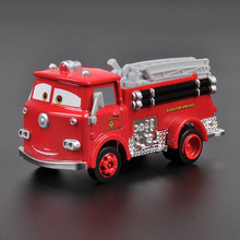 Disney Pixar Cars 2 Diecast Red Firetruck Metal Alloy Toys Car For Children Christmas Gift 1:55 Loose In Stock Lightning McQuee