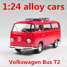 1:24 alloy cars,Volkswagen Bus T2 high simulation car model,metal diecasts,coasting,the children's toy vehicles,free shipping(China)