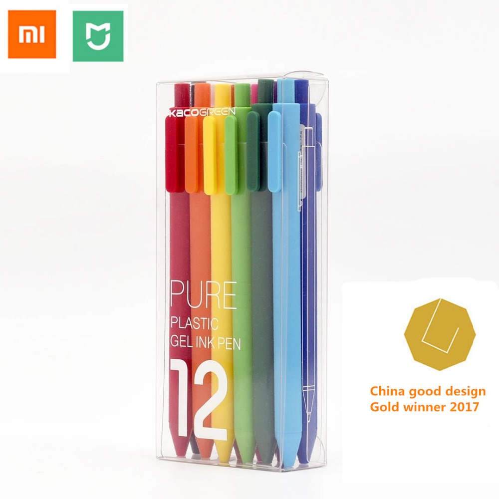 Xiaomi mijia Colorful sign pen ,KACO 12 colors 0.5mm ,write length 400M ,ABS plastic xiaomi mi home smart  -  Mijia Homes Store store