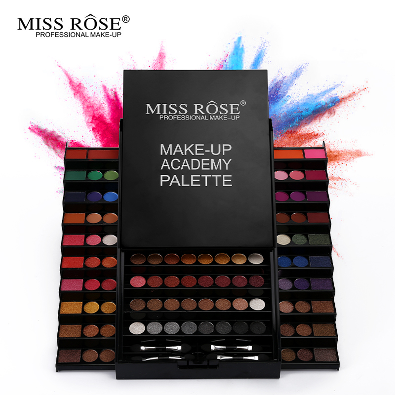 Miss Rose 126Colors Trapezoid Matte&amp;Shimmer Eye Shadow Palette Mineral Powder Losting Eye Makeup Professional Eyeshadow Cosmetic<br>