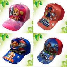 Cotton Cute Patroling Children's Hats pawed Caps Headgear Chapeau Patroled Puppy Print Dog Party Kids Boy Girl Birthday Gift