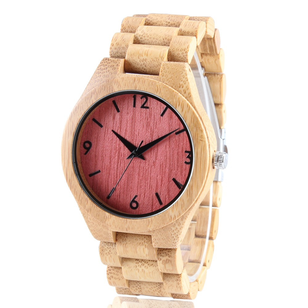 TJW Simple FullWood Watch Women Luxury Brand New Natural  Wooden Bamboo Watch  Wood Watch With Bamboo Band <br>