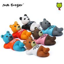 Mr.Froger Sleeping Panda Teddy Bears Toys Cute Cartoon Bear Animal Action Figure Anime Mini Garden Decoration Set DIY Dolls Kids(China)