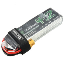 Best Deal Rechargeable Charsoon 11.1V 4200mAh 35C 3S Lipo Battery XT60 Plug With Strap