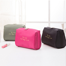 Fashion Portable Travel Cosmetic Bag waterproof small portable Storage Bags outdoor Organizer Make-up popular Handbags cases(China)