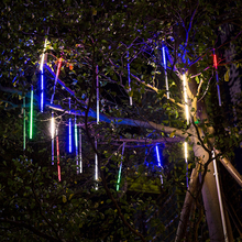 New Year Outdoor 20cm 30cm 50cm Meteor Shower Rain Tubes LED String Lights Waterproof For Christmas Wedding Garden Decoration(China)