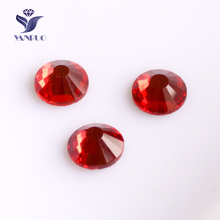 YANRUO #2058NoHF SS20 Lt.Siam 1440Pcs Flatback Non Hotfix Strass Crystal Pixie Rhinestone Beads For Garments(China)