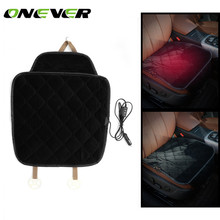 Onever Car Heated Seat Cushion Heating Pad Cover Hot Warmer Separated Control ON/OFF for Cold Weather and Winter Driving(China)