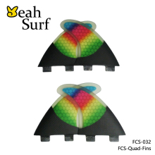 FCS Quad Fins Colorful Fibreglass Surfboard G5/K2.1 Quad Fin Surfing Quilhas FCS Rainbow Honeycomb Fins