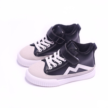 Size 26-36 2017 spring casual shoes boys girls high top sneakers boys shoes children leather shoes baby shoes sneakers tx0841