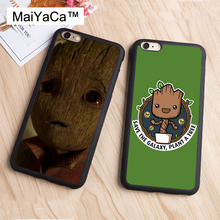 MaiYaCa Baby Groot Guardians of the Galaxys Print Luxury Soft TPU Mobile Phone Case Cover Coque for iPhone 6s 6 i6 Coque Shell(China)