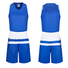 Free Shipping New Blue&White Men's Youth Student Famous Stars Basketball Jerseys Sets Customized Basketball Singlet Uniform Suit
