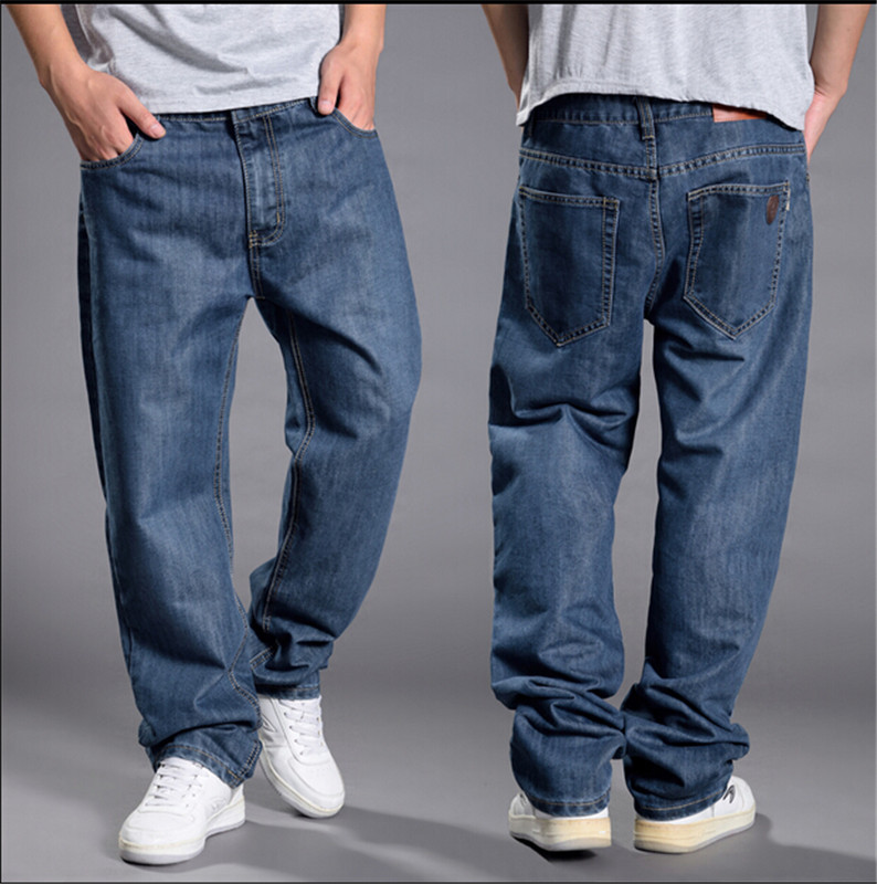 2017 Trendy sales mens baggy jeans hiphop retro Old schoold jeans denim loose jeans pants plus size 44 46 48Одежда и ак�е��уары<br><br><br>Aliexpress