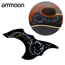 Acoustic Guitar Pickguard Scratch Plate PVC Black High Quality Bird Flower Pattern Guitar Pickguard