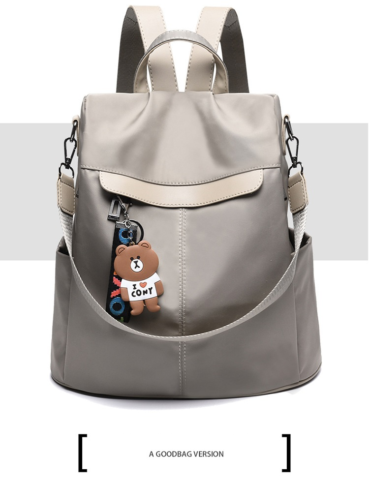 Large Capacity Backpack Women Preppy School Bags for Teenagers Female Oxford Travel Bags Girls Bear Pendant Backpack Mochilas 11 Online shopping Bangladesh