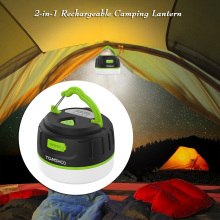 Super Bright Waterproof Magnetic Lamp 200LM LED Camping Tent Lamp Outdoors Lamp with USB Charging Cable Rechargeable Power Bank(China)
