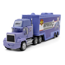 Pixar Cars Movie Diecast Car Truck Container Mack Uncle Blue No.79 Retread Racer's Truck Metal  1:43 Alloy Model kid's toy