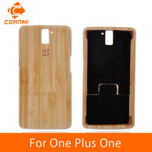 CORNMI For One Plus One Case Cover With 1+ LOGO New Hard Bamboo Wood Back Cover For Oneplus One Case Wooden Phone Bag Shell LTH(China)