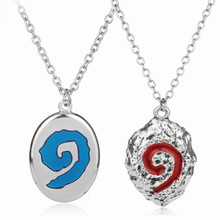 Hot Game Jewelry Hearth Stone Necklace Female Male Chain Choker Necklace Metal Alloy Collier