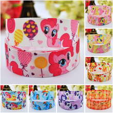 7/8'' (22mm) Ruban My Little Pony Cartoon Character printed Grosgrain Ribbon party decoration satin ribbons OEM 10 Yards