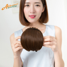 Buy Short Braid Blunt Bangs Natural Tidy Hairpieces Heat Resistant Synthetic Women Hair 2 Styles Available Natural Fake Hair for $2.99 in AliExpress store