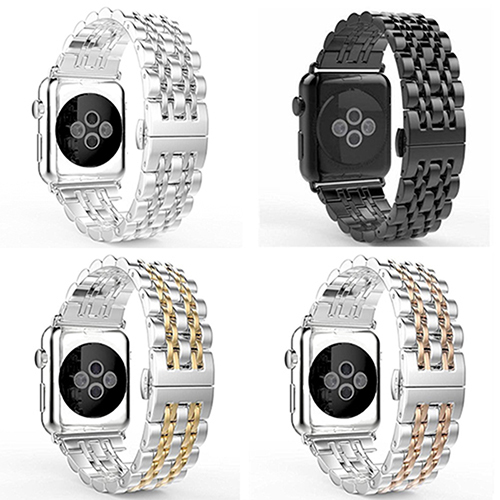 Luxury Stainless Steel Strap Band Watchband Buckle for Apple Watch 38mm 42mm<br><br>Aliexpress