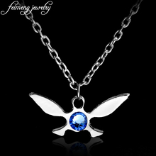 Anime Legend of Zelda NAVI Necklace Zelda Triforce Pendant Necklace Butterfly Charm Papillon Pendant Jewelry For Women Gifts