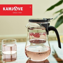 free shipping Kamjove new arrival elegant cup tea cup flower tea pot heat-resistant glass tea set brewing device glass teapot(China)