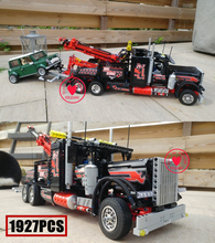 20020 technic Tow Truck Ultimate Series Mechanical American Style Heavy truck Container model Building Blcoks Bricks Toys 8258(China)
