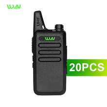 20pcs Ship From Moscow Ultra-thin Mini Walkie Talkie better than BAOFENG 888S UV5R UHF long range WLN Two-Way Radio(China)