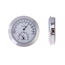 New Alloy Silver Round Humidity Moisture Thermometer Hygrometer Case For Guitar Violin Mini Portable thermometer