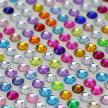 750pcs/set 3mm Personalized Crystals Rhinestones Self Adhesive Car Stickers Styling For Cars Motorcycles PC Computer Decoration(China)