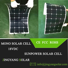 solar panel 50w sunpower solar cell; flexible solar panel 18VDC; 50w panel solar 25 years warranty(China)