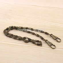 "20pcs/lot 40cm 15.7"" short Metal Antique Bronze purse chains bag parts accessories for DIY patchwork crafts ,freeshipping(China)"
