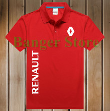Free Shipping New Brand Summer women and men's Renault car logo Polo Shirt Short-sleeved Fashion Casual Shirt